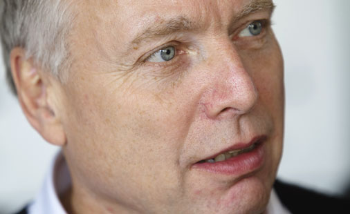 Uffe Elb�k, kulturminister i Danmark, kommer til by:Larm for � l�re.
