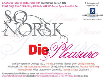 Die of Pleasure flyer (www.jailonlimited.typepad.com) (350x263)